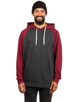 Zine Campus HBK Mar 2Tone Hoodie heather black / burgundy Gr. L