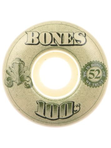 Bones Wheels 100'S Og #16 100A White 52mm Rollen