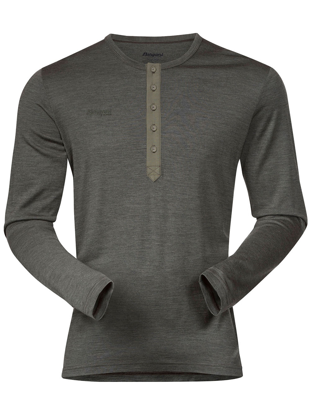 Henley Wool Tech Tee LS