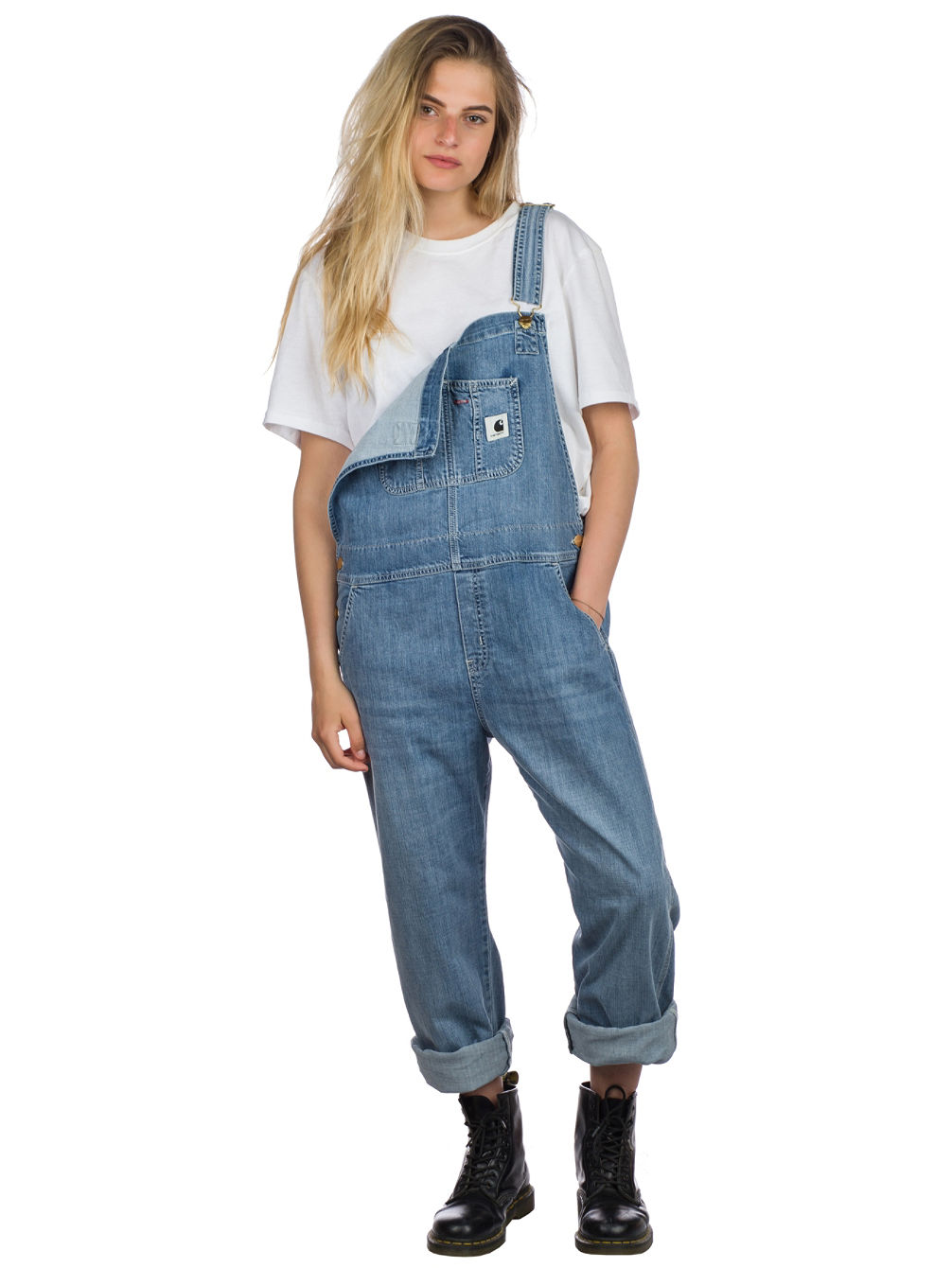 Bib Overall Straight Jeans