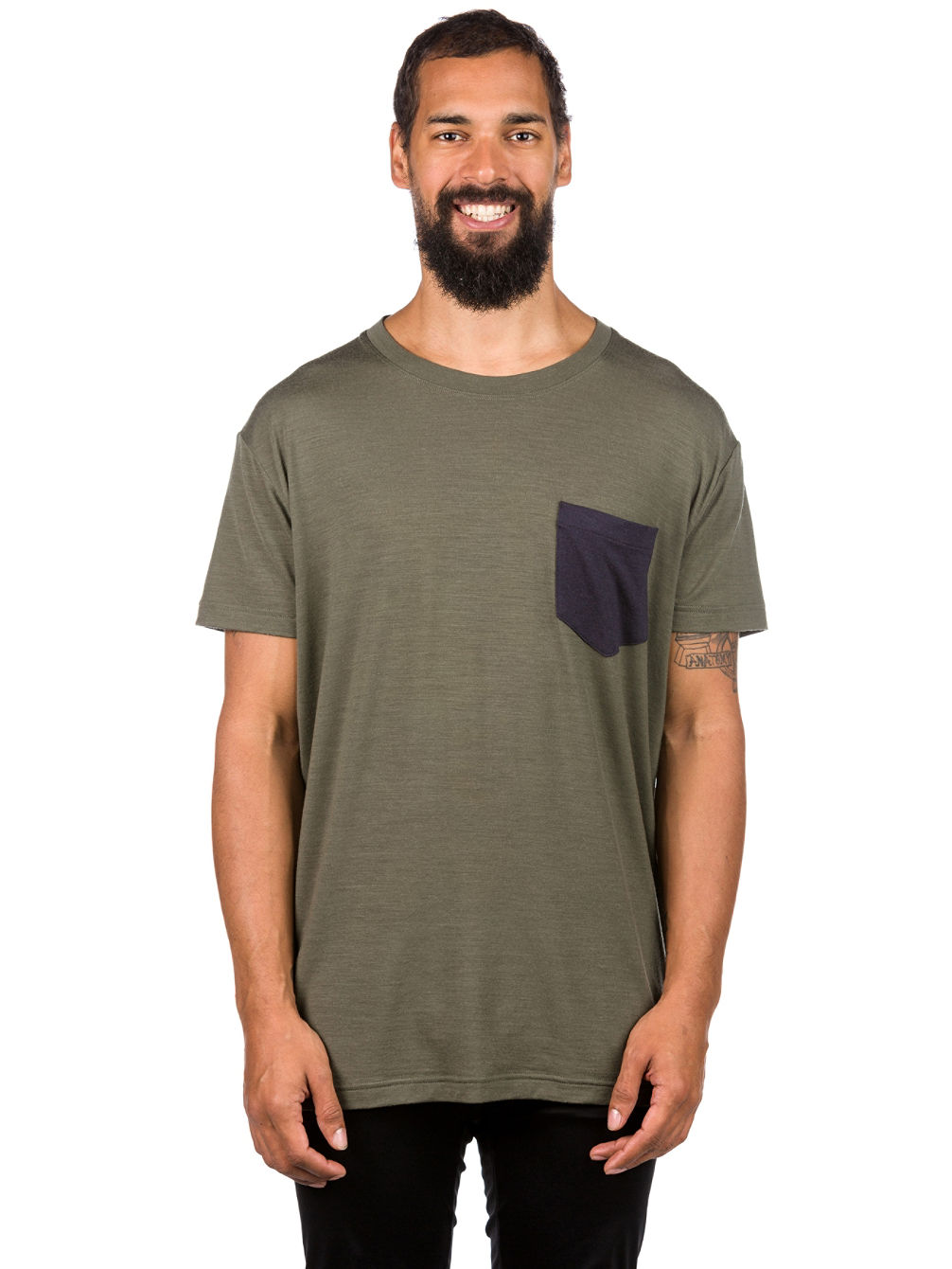 Merino Harvey Pocket Camiseta