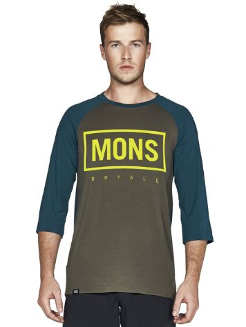 Mons Royale Merino Redwood 3/4 Raglan Box Funktionsshirt