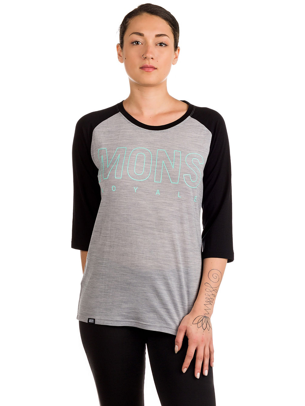 Merino Phoenix 3/4 Raglan Box Long Sleev