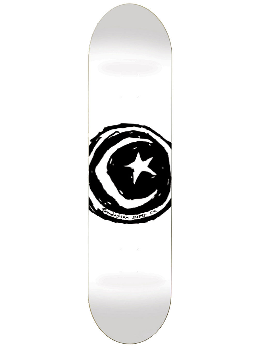 "Star And Moon White 8.25"" Skate Deck"