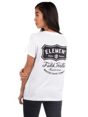 Element Test Crew T-Shirt white Gr. XS