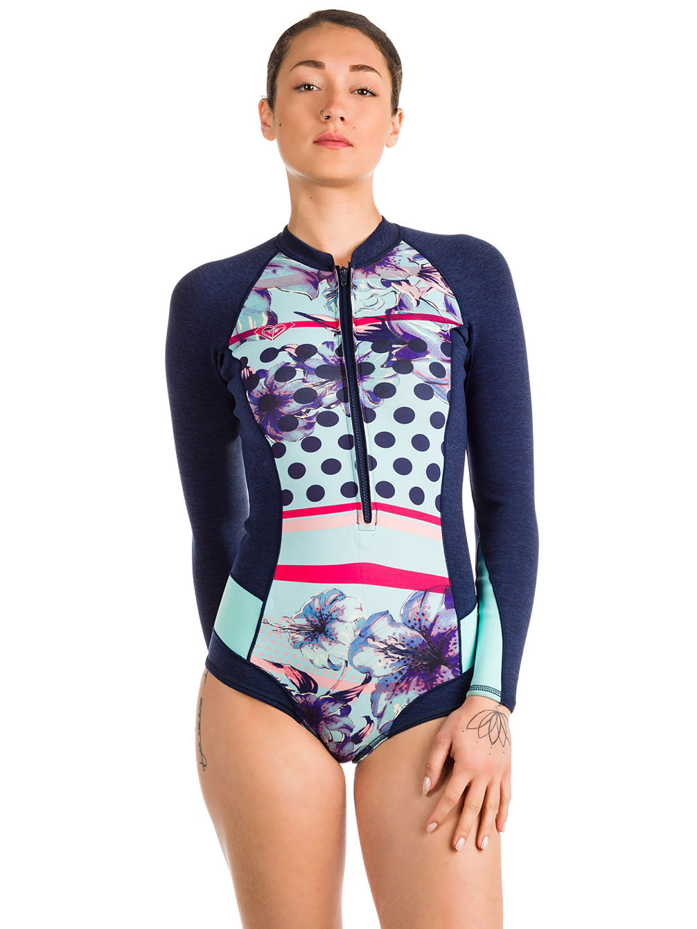 1.0 Pop Surf Front Zip LS Cheeky Spring