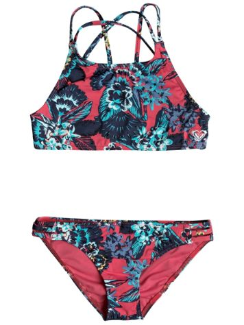Roxy Let The Surf Crop Top Set Bikini Girls