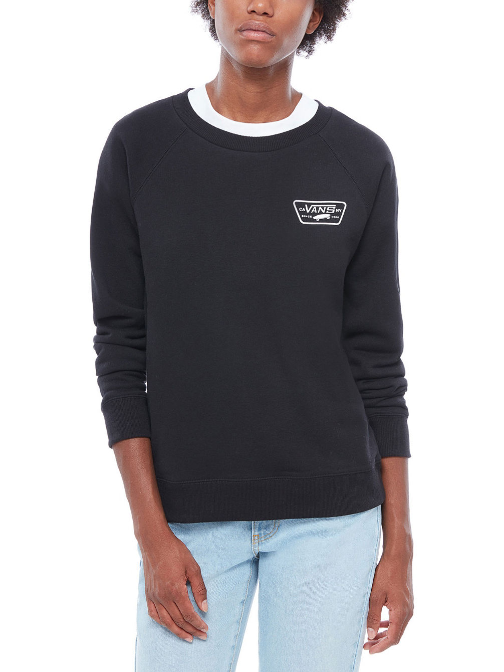 Full Patch Raglan Crew Sweater