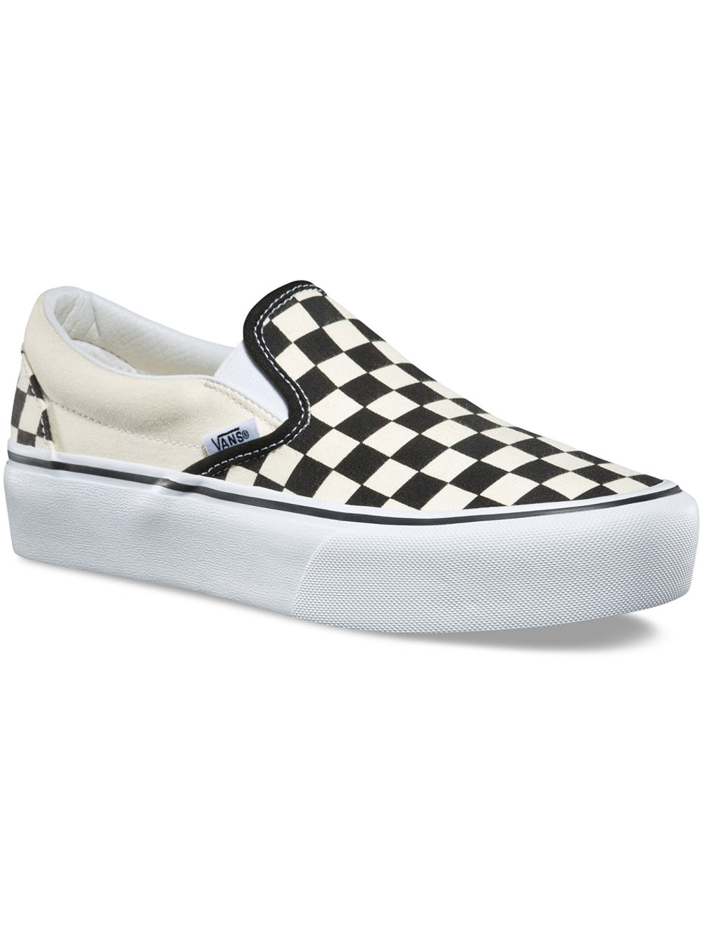 Checkerboard Classic Platform Slippers