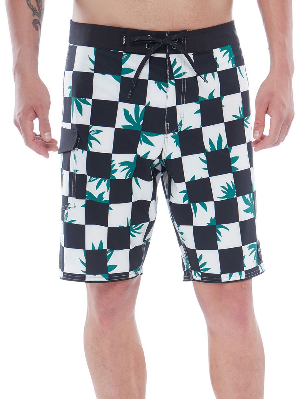 Checkerboard Mixed Scallop Boardshorts