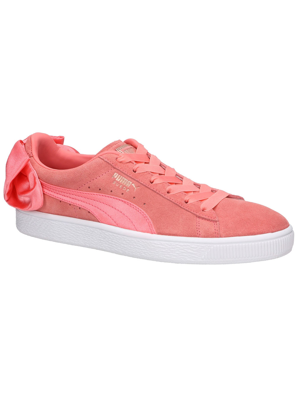 low priced 59fcc f32c1 Suede Bow Sneakers