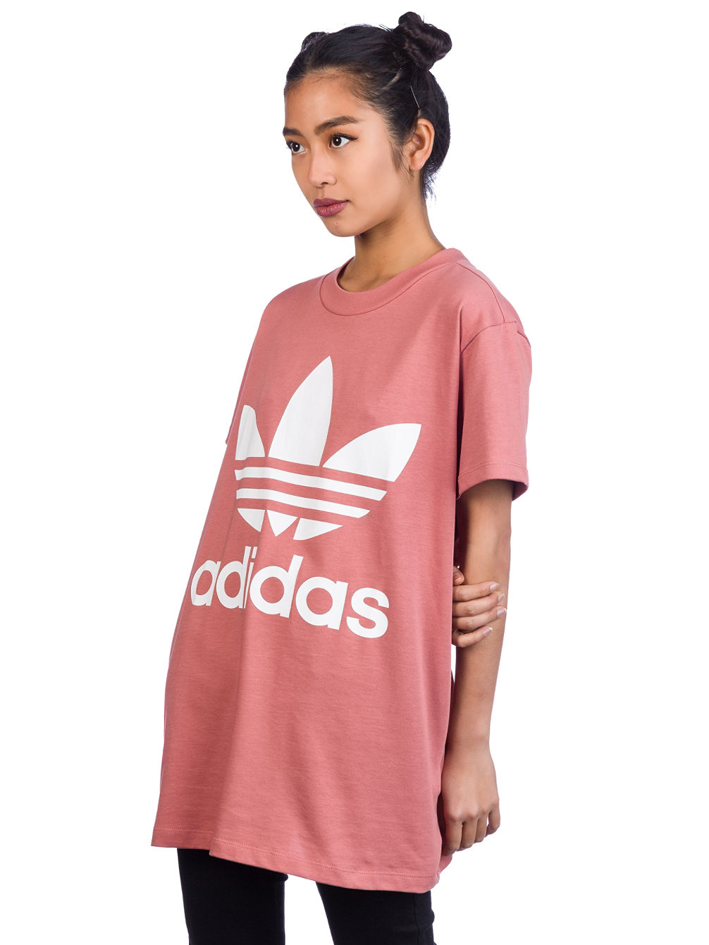 b4107d71e3f Womens Adidas Originals Orchid Trefoil T Shirt – EDGE Engineering ...