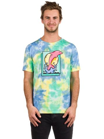 Pink Dolphin Leap Tie-Dye T-shirt