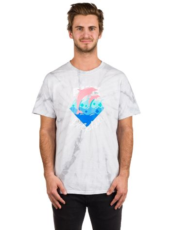 Pink Dolphin Waves Script Camiseta