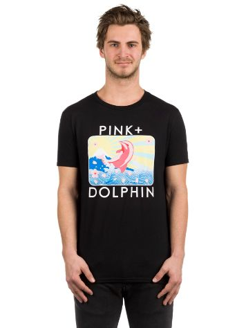 Pink Dolphin Blossom Portrait T-shirt