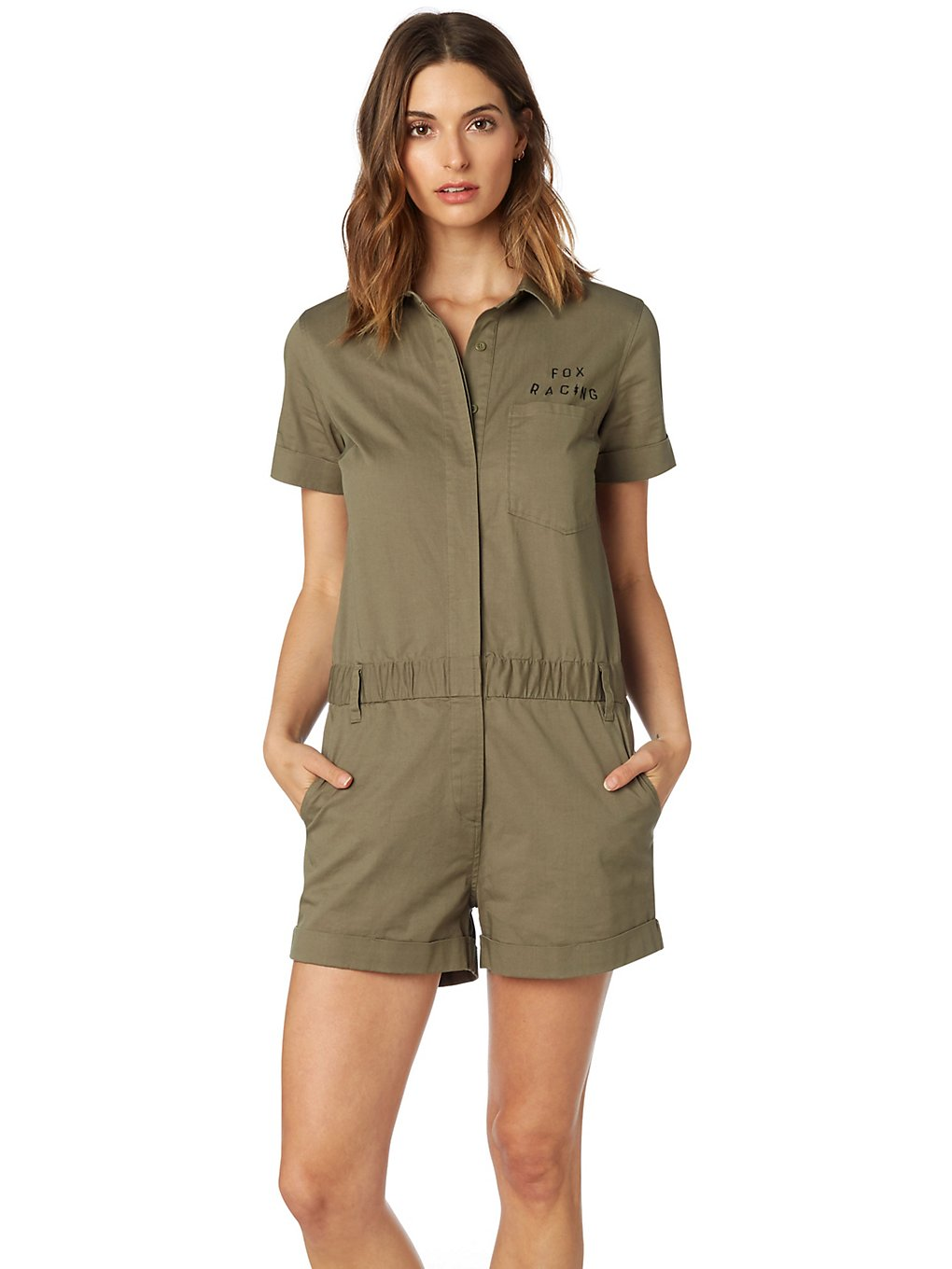 Hosen für Frauen - Fox Wrenching Jumpsuit fatigue green  - Onlineshop Blue Tomato