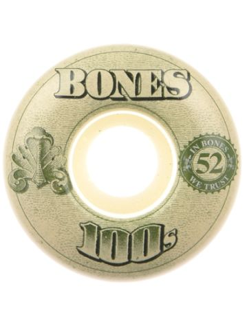 Bones Wheels 100'S Og #16 100A White 51mm Rollen
