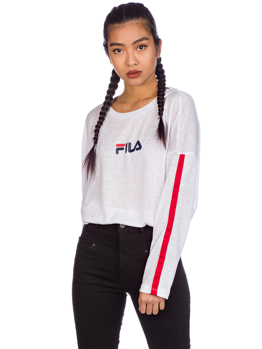 Jessica Cropped Crew T-Shirt LS