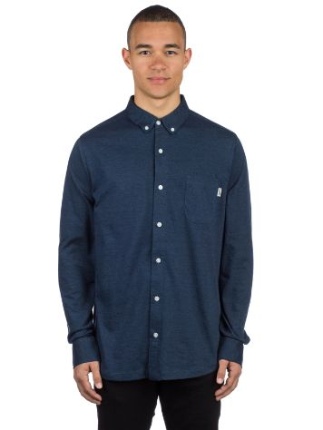 Wemoto Shaw Jersey Button Down Camisa