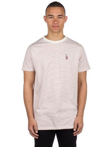 Wemoto Shake Stripe Jersey Embroidered T-Shirt