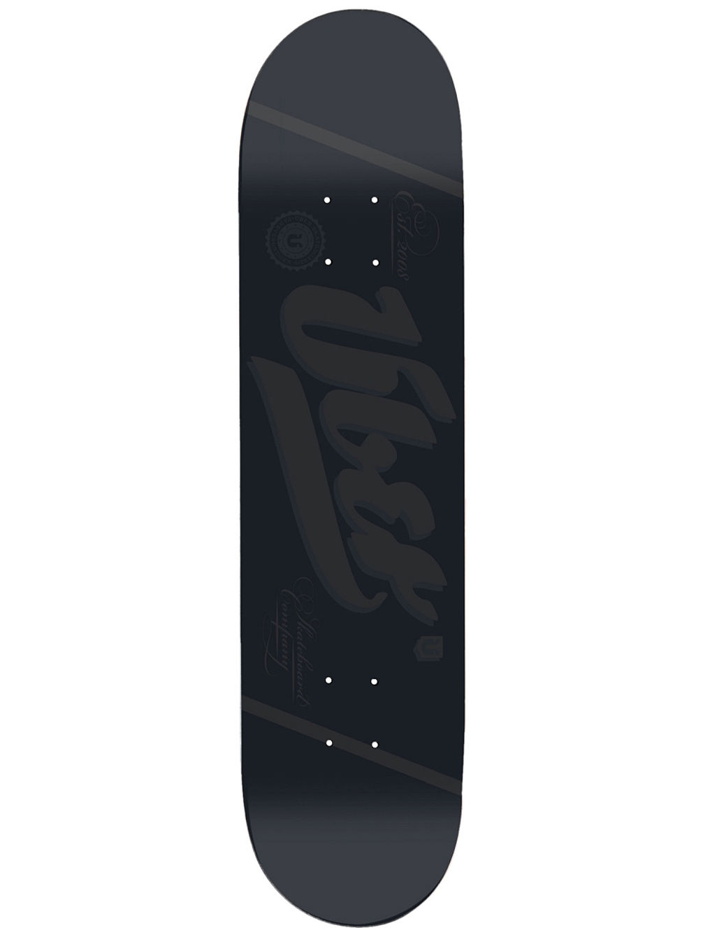 "Black Is Black 8.125"" Skate Deck"