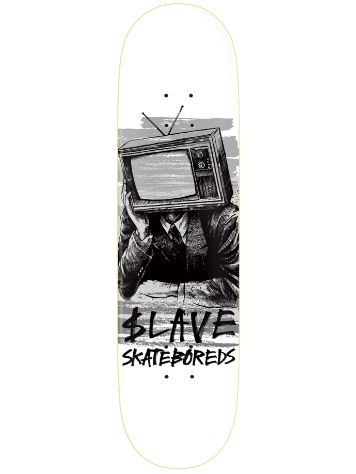 Slave Bored Black And White TV 8.88'' Skate Deck