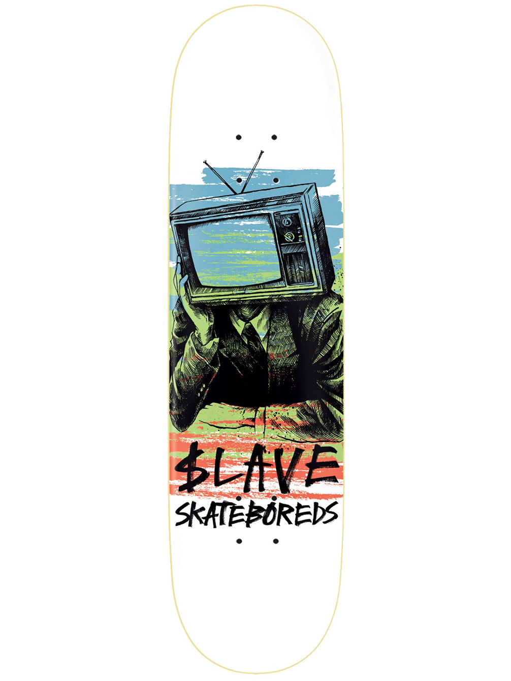 Bored Color TV 9.0'' Skate Deck