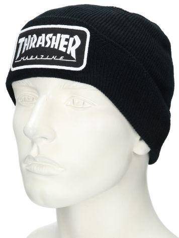 thrasher logo patch beanie online kaufen bei blue. Black Bedroom Furniture Sets. Home Design Ideas