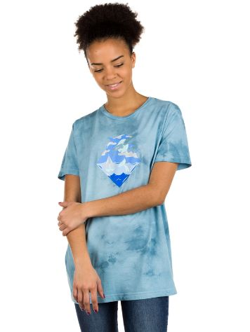 Pink Dolphin Waves PD Blue Tie Dye Camiseta