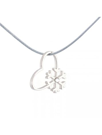 SilverSurf Snow Love Diamond Necklace