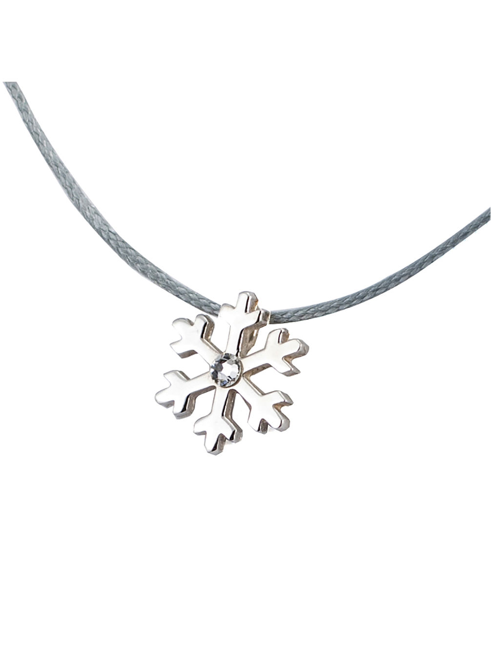 Snow Flake S Diamond Necklace