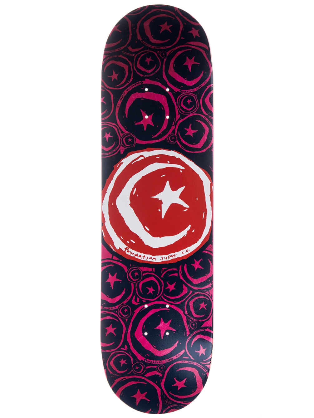 Star and Moon Stickered 8.75'' Skate Deck