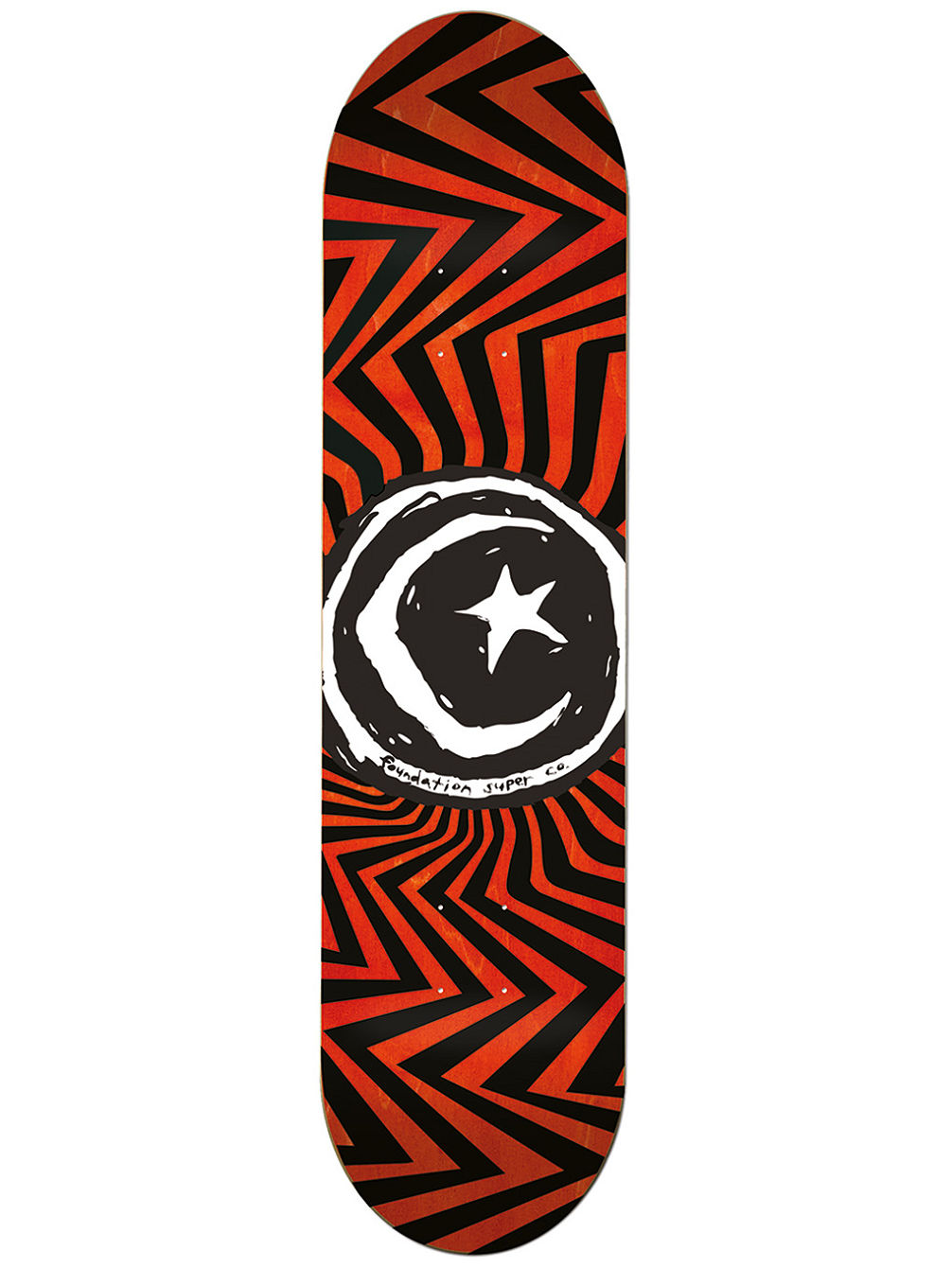 Star And Moon Zig Zag 7.75'' Skate Deck