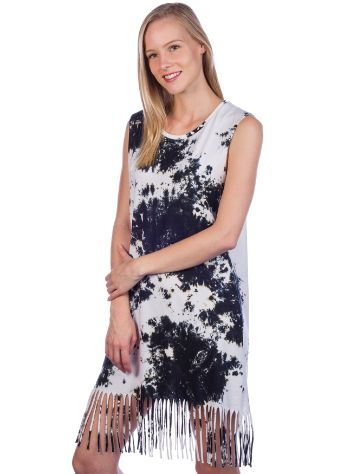 Zealous Fringy Tank Dress