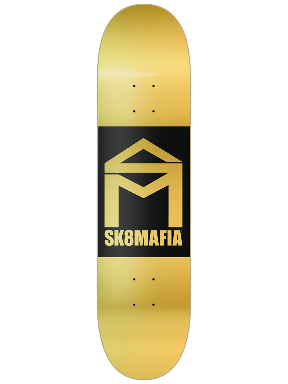 House Logo Gold Double Dip 8'' Skate Deck