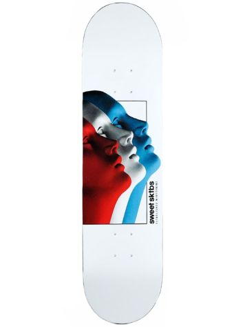 "SWEET SKTBS Cycle Tric White 8.125"" Skate Deck"