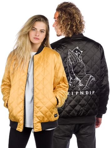 Rip N Dip Praying For Nermal Quilted Reversible Jacket