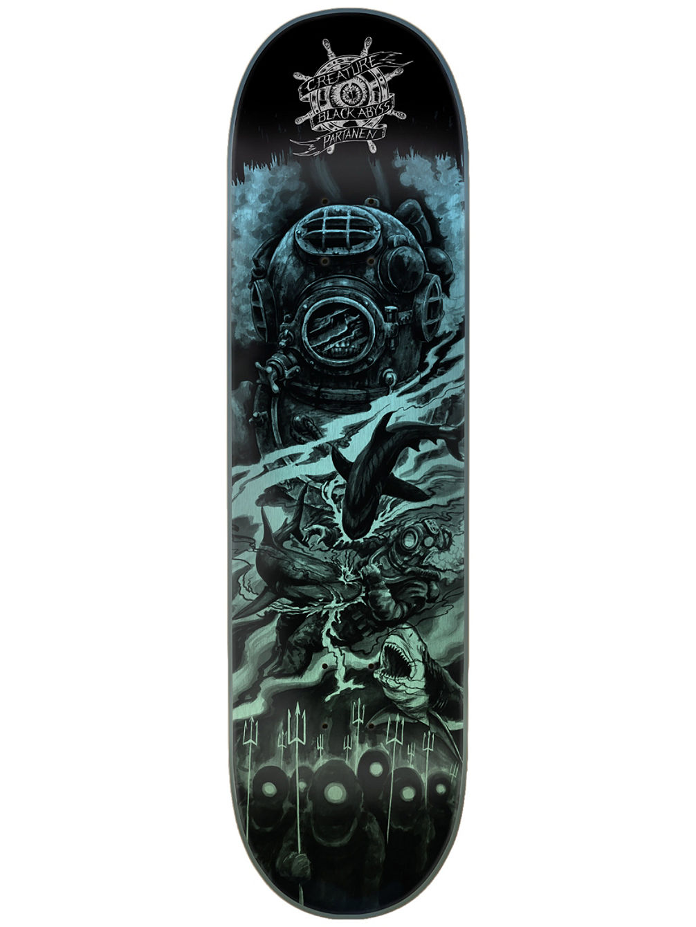 "Black Abyss Partanen 8.3"" Skate Deck"