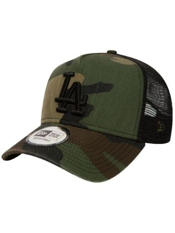 New Era Washed Camo Trucker Gorra