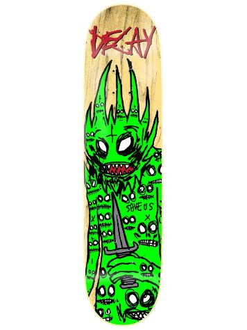 "Decay Demon Green 8.25"" Skate Deck"