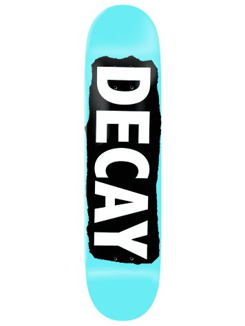 "Decay Torn Light Blue Foil 8.5"" Skate Deck"