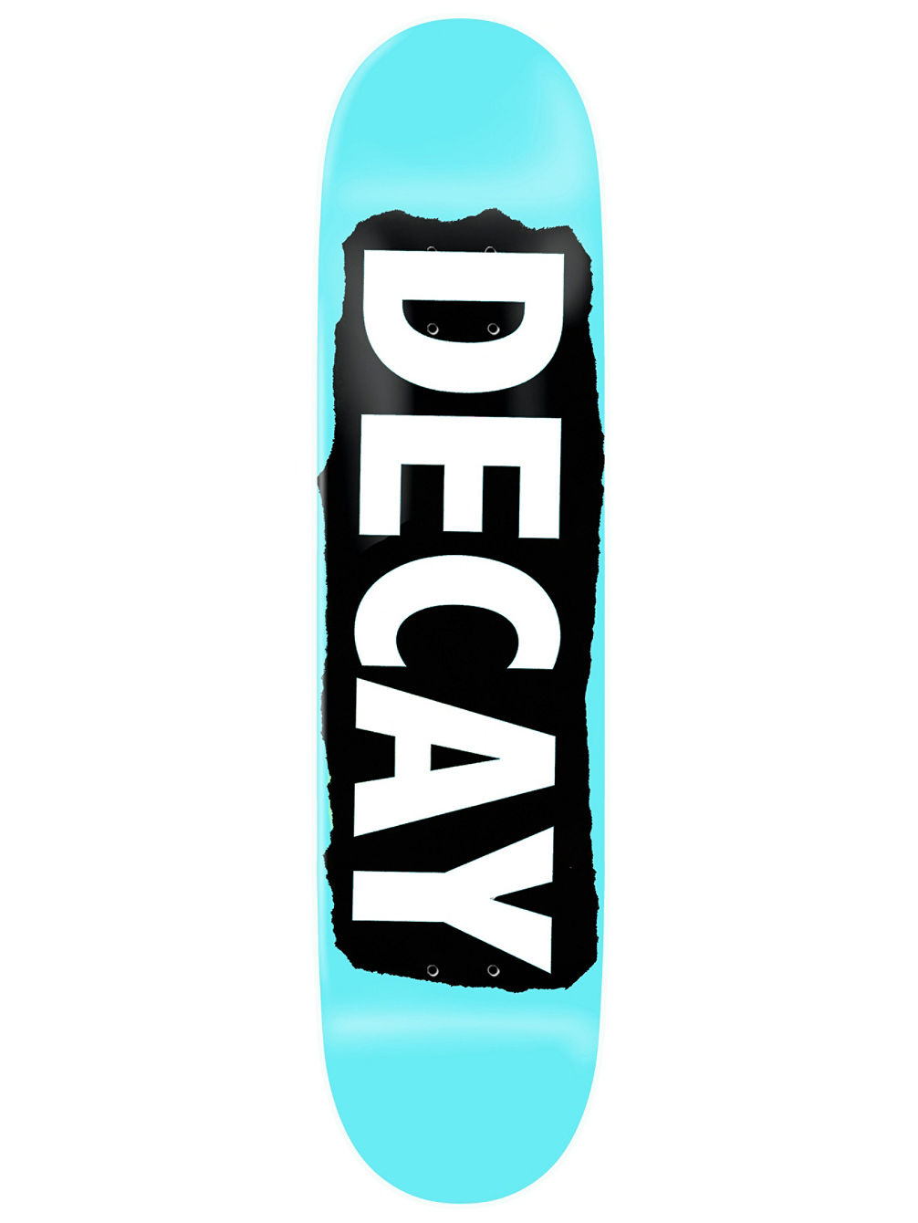 "Torn Light Blue Foil 8.5"" Skate Deck"