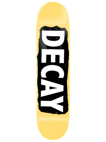 "Decay Torn Yellow Foil 8.0"" Skate Deck"