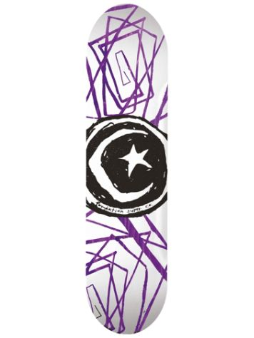 "Foundation Star And Moon Lines 8.0"" Skate Deck"