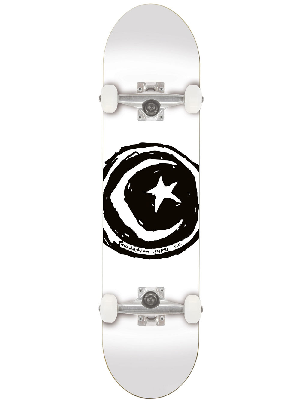 "Star And Moon White 7.75"" Complete"