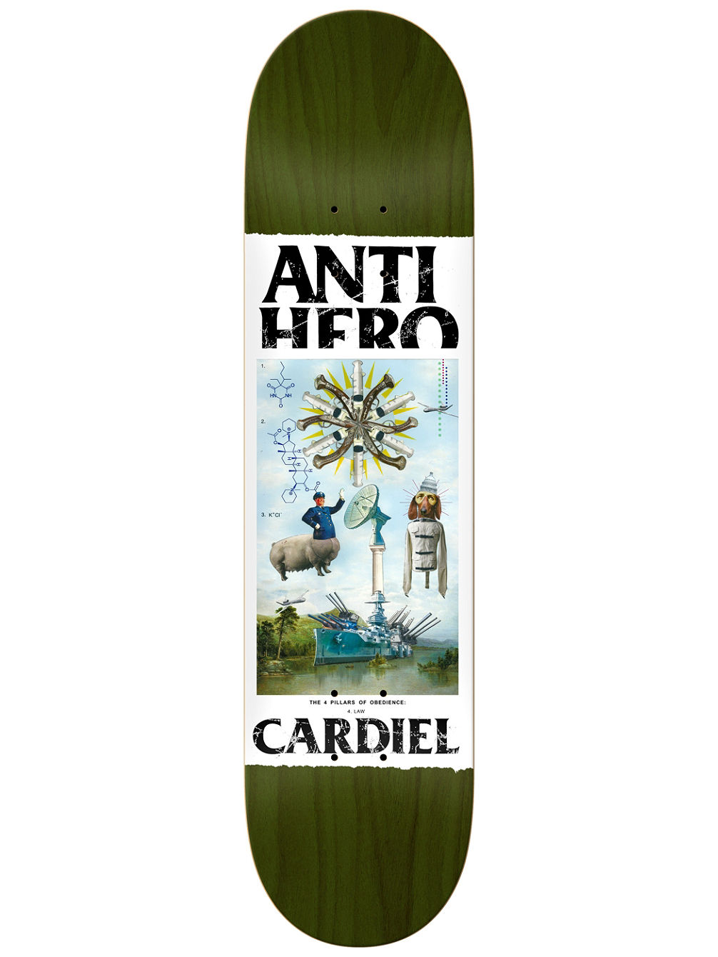 "Cardiel Four Pillars Of Obedience 8.4"" Skate"