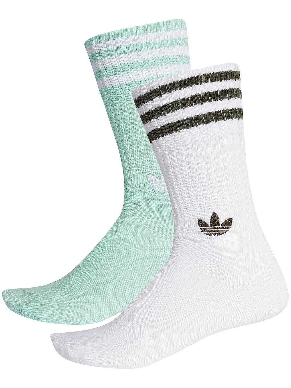 Image of adidas Originals Solid Crew 2PP Socks
