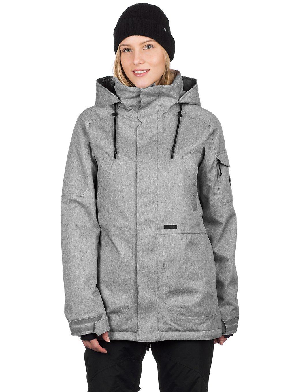 volcom shrine insulator jacket heather grey