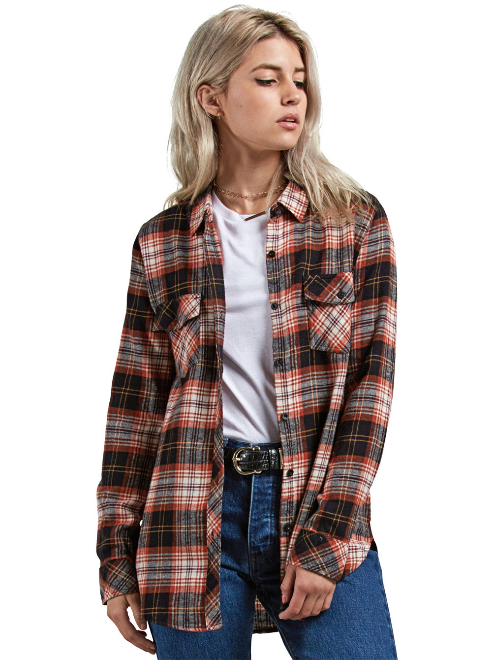 Getting Rad Plaid Hemd LS