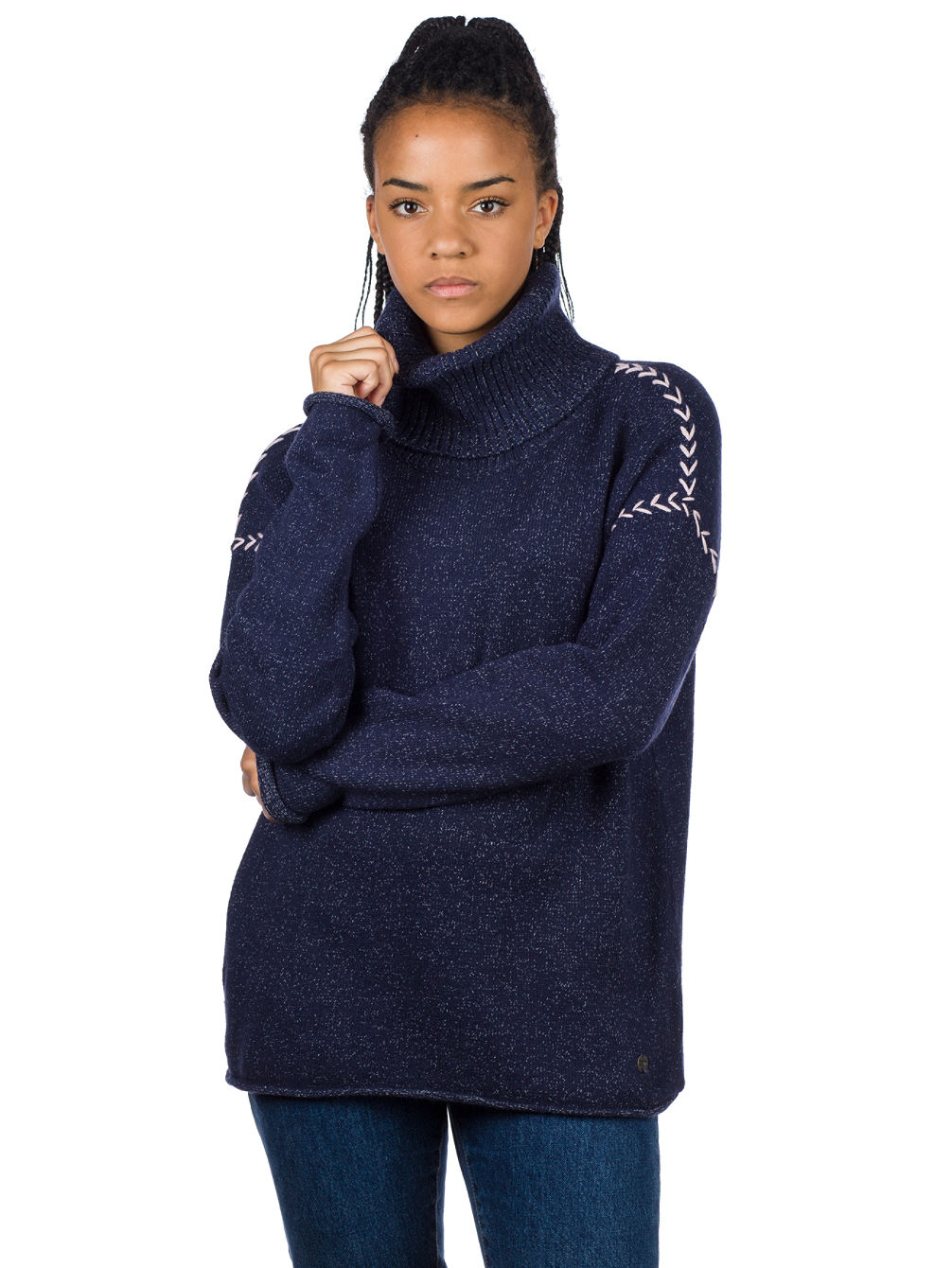 Leah Roll Neck Pullover